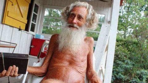 A priest among nudist