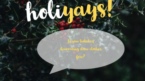 Is your holiday decorating done clothes free