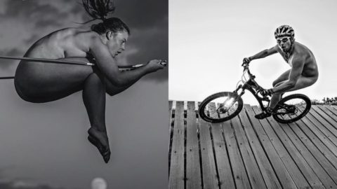 Skiers shed clothes for nude calendar (via NBC Olympics)