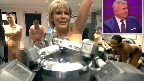 Ruth Langsford strips off for NAKED exercise class in new show (via Mail Online)