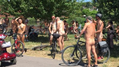 Naked bike riders take to the streets – and they are loving life (via devonlive)
